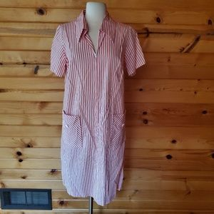 1960s Sears Fashions Red & White, Cotton Blend Hou